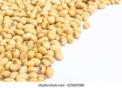 Soybean seed with white background