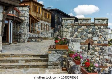 SOZOPOL, BULGARIA - JULY 16, 2016: Ancient ruins in Old town of Sozopol, Burgas Region, Bulgaria