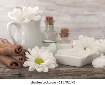 spa arrangement in white