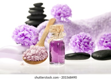 Spa background in the range of violet, brown and black.