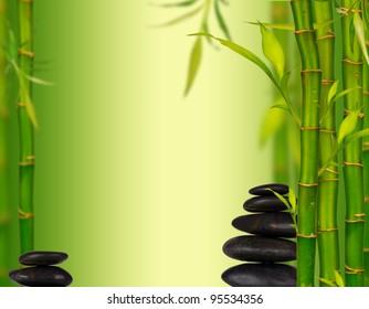 Spa bamboo background