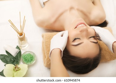 Spa. Beautiful couple relaxing together at spa centre after a beauty treatment,massage for spa,salon,women relax spa massage,treatment