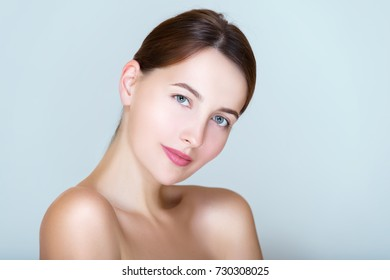Spa and beauty, rejuvenation skin care, Sensuality young woman portrait