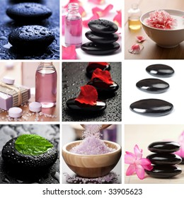 spa and body care collage