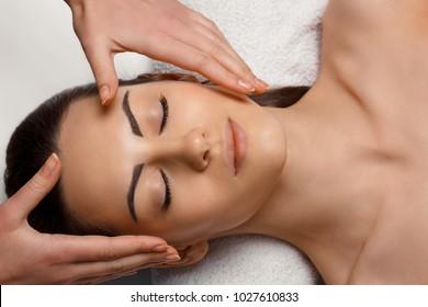 Spa body massage treatment and skincare. Woman in spa salon. Body care.