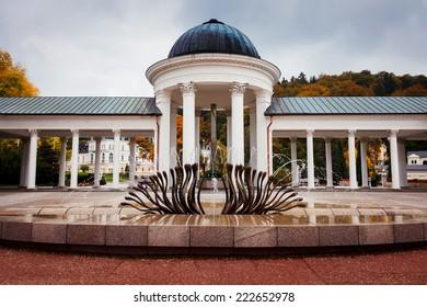 Spa colonnade in Marianske Lazne, Czech Republic