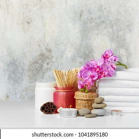 spa composition on the table