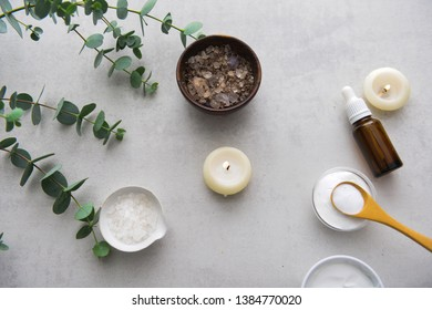 spa concept background on gray background