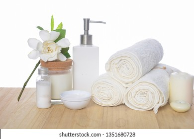 Spa concept, spa background, on wooden background
