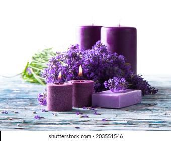 Spa concept, lavenders