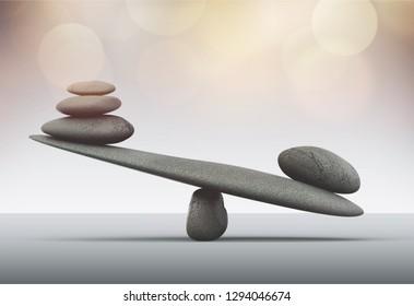 Spa concept with zen basalt stones