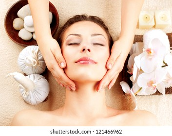 Spa Face Massage. Facial Treatment. Spa Salon. Therapy