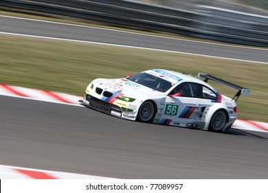 SPA FRANCORCHAMPS - MAY 7: Andy Priaulx, Augusto Farfus, Jorg Muller and Uwe Alzen in the BMW M3 GTR racing on May 7, 2011 in the 1000km race of Spa Francorchamps, Belgium