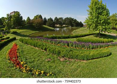 Spa gardens Oberlaa in Vienna