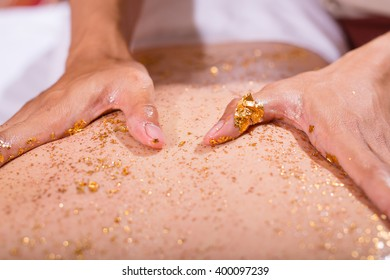 Spa gold plate, healthy skin.