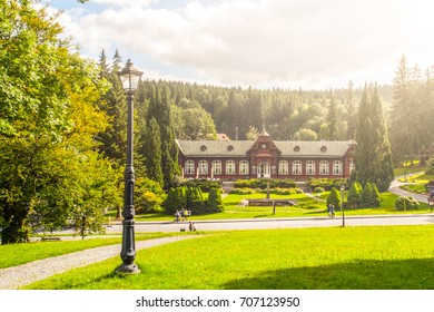 Spa house in Karlova Studanka spa resort, Hruby Jesenik, Czech Republic. - Shutterstock ID 707123950