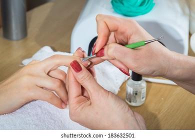 spa manicure treatment