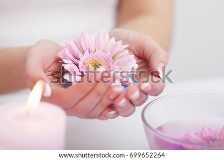 Spa Manicure Woman Hands Perfect Natural Stock Photo (Edit Now ...