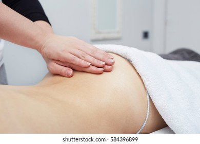 Spa massage for beautiful pretty woman