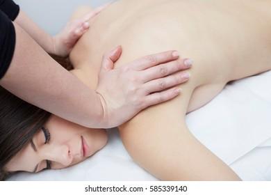 Spa massage for beautiful pretty woman