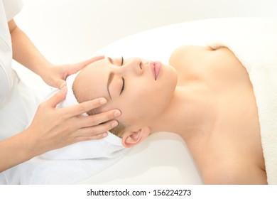 Spa massage for beautiful woman