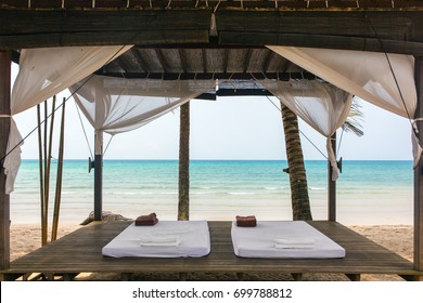 Spa massage room on the beach in Thailand