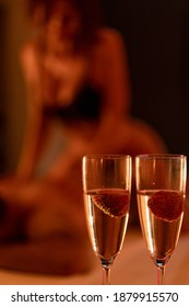 Spa massage. Satisfaction and pleasure. Hedonism and body pleasures. Sensual touch. Couple relaxed in bed. Man and girl relaxing sensual body massage. Sexual massage. Beauty salon and spa.