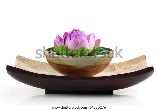 Spa Objects Lotus Flower Bowl Stock Photo Edit Now 54820276