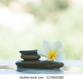 spa objects on white background outdoor with sunlight