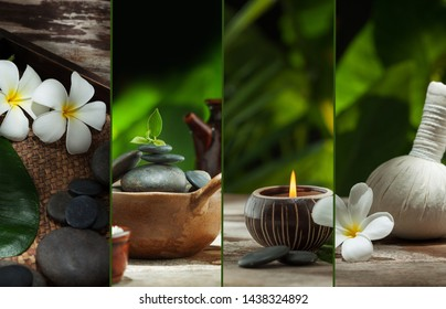 Spa objects theme collage composed of a few different images