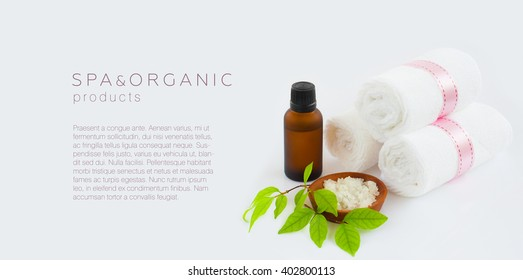 Spa and organic products background /