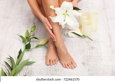 Spa. Pedicure and manicure. Beauty treatments for hands and nails.