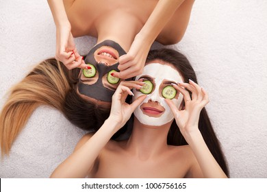 Spa. Process cosmetic mask of massage and facials in beauty salon