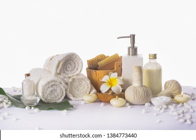Spa products concept, spa bath background