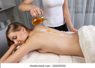spa relaxation with healing oils and body massage