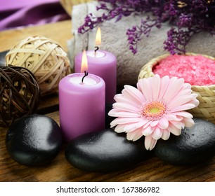 Spa set for massage and body care