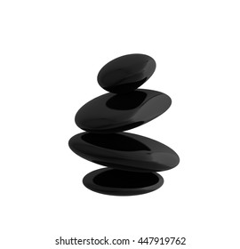 Spa stones. 3D illustration