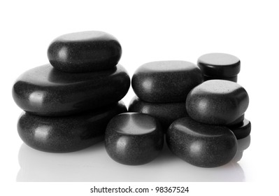Spa stones isolated on white
