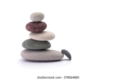 spa stones isolated white background
