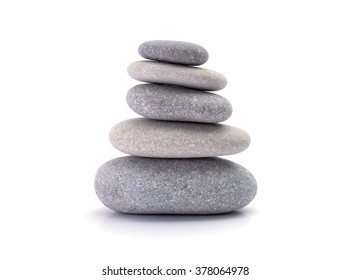 spa stones isolated white background
