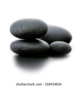 Spa stones on gray background