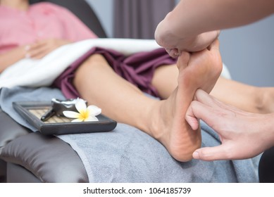 Spa and Thai foot massage, beautiful women relaxing and healthy of aromatherapy wellness
