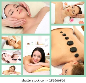 Spa therapy collage