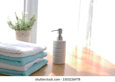 spa towels on white surface