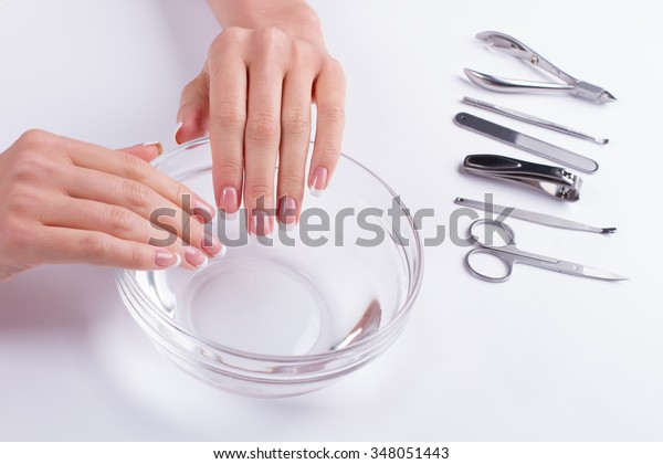 Spa treatment for nails. Nail salon.