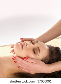 Spa treatment over abstract background