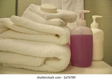 spa treatment, shallow DoF