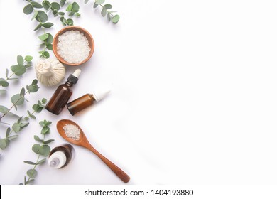 Spa wellness with aromatherapy theme . spa background on white background