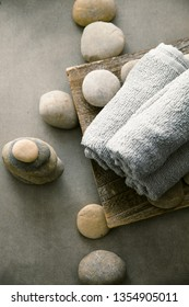 Spa and wellness. Natural massage stones ..Spa treatment
