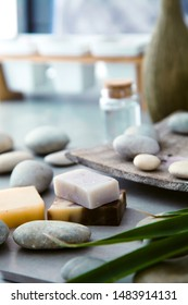 Spa and wellness. Natural soap . Spa treatment.